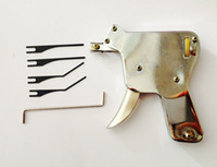 강력한 잠금 선택 총 자물쇠 도구 세트 도어 잠금 오프너 잠금 도구 범프 키 자물쇠 따기 선택 선택 잠금