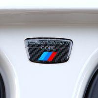 ملصقات ألياف الكربون شعار سيارة b العمود ملصق لسيارات bmw e46 e39 e60 e90 f30 f34 f10 1 2 3 5 7 سلسلة x1 x3 x5 x6 سيارة التصميم