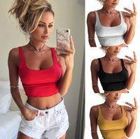 Solid Color Women Tanks Sexy Sports Home Casual Wear Party W...