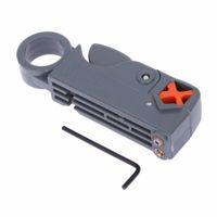Pinza spellafili Pinza a cavo coassiale rotante RG58 RG6 Pinza a filo con utensile multiuso a chiave esagonale