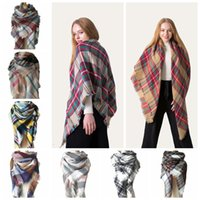 Fashion Women Plaid Scarf Shawl Pashmina Colorful Tassel Sca...