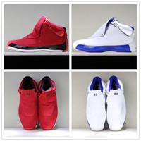 best loved b1044 0fb1b 2018 New Jumpman 18 Toro negro rojo blanco azul deporte Royal Basketball zapatos  para buena calidad