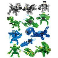 Динозавр строительный блок Наборы Детские игрушки Кирпичи Динозавр строительный блок игрушки Сюрприз Твист Яйца 3 в 1