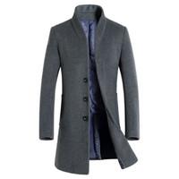 1681 autumn and winter Korean new casual windbreaker long wool cashmere coat men's clothing