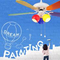 Ventilatore Da Soffitto Moderne Deckenventilatoren Licht Für Kind Kinder  Schlafzimmer Wohnzimmer Deckenventilator Mode Fan Mit Licht