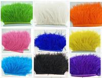 cintura di stoffa di piume di struzzo, 1 metro di lunghezza cintura di stoffa di piume, larghezza della piuma 9-11cm Piume di decorazione del partito