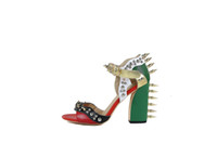 Summer High Heels Sandal women Rivet Mixed Color Peep Toe Ge...