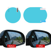 2PCS Set Anti Fog Car Mirror Window Clear Film Anti- glare Ca...