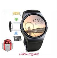 최신 오리지널 KW18 전체 라운드 IPS 심박수 스마트 시계 MTK2502 BT4.0 ios 및 Android 용 Smartwatch 삼성 지능형 시계