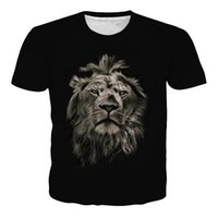 New Summer Mens T -shirt Fashion T-shirt stampata European Comfortable Lion Pattern T-shirt stampata 3D per uomo Ypf120