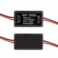 GS-100A 12-24V 플래시 스트로보 컨트롤러 (LED 깜박임) 뒷 브레이크 스톱 라이트 램프 모터 바이크 용 자동차 용품