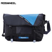 Roswheel 레트로 레저 반사 자전거 가방 단일 어깨 메신저 팩 폴리 에스터 섬유로 만든, 강한 내마 모성