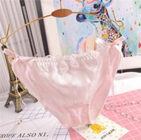 Ropa interior de alta calidad de las mujeres sik bragas de algodón de seda tanga satén sexy underwear tanga ropa interior japonesa VS panty