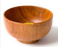 20pcs / lot bol en bois naturel récipients de nourriture chinoise vaisselle en bois cuisine mélange bol soupe nouilles riz riz plats