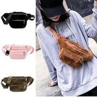 Newest Warm Fashion Faux Fur Waist Bags Women Plush Fanny Pa...