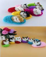 Süper Sevimli Simülasyon Sondaj Ayakkabı Yavru Kediler Peluş Oyuncaklar Çocuklar Yatıştırmak Bebek Kız Arkadaşı Göndermek Noel Doğum Günü Hediyeleri