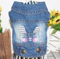 New Denim Pet Dog Clothes Personalized Rabbit Cat Embroider ...