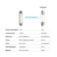 Festoon LED Ceramic White SMD Targa automobilistica per interni Auto Dome Lampada da lettura Lampadine DC 12V 24V 5500K super luminoso