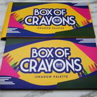 2018 년 메이크업! 최신 BOX OF CRAYONS 아이 섀도우 18 색 팔레트 쉬머 무광택 아이섀도 프로 아이 메이크업 화장품 무료 DHL 배송