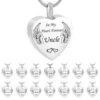 Silver Heart wing Pendant Cremation Urn Necklace Memorial Ke...