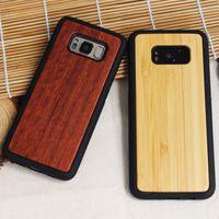 Darbeye Gerçek Ahşap Durumda Samsung Galaxy S8 Artı S7edge S6 Not 8 Bambu Ahşap Yumuşak TPU Case Arka Kapak Samsung S7 S6edge S8plus