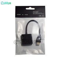 1080p HDMI a VGA Convertidor Audio Video Cables DP Display Puerto Macho a VGA Hembra Convertidor Cable Adaptador 100 Unids DHL Con Paquete Opp