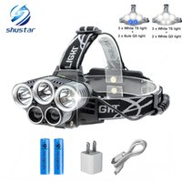 Shustar Blue light white USB 5 led headlamp head lamp headli...