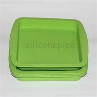 """سيليكون الشمع طبق عميق عموم شكل مربع 8 """"X8"""" ودية غير عصا سيليكون الحاويات التركيز الغذاء الصف سيليكون صينية"""