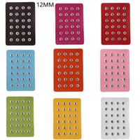 Noosa 12 мм Snap Button Display 10 цветов черный кожаный Snap Display для 24 шт куски Оснастки дисплей ювелирных изделий держатель