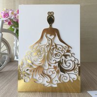 Laser Cut Pocket Wedding Invitations Wedding Dress Different...