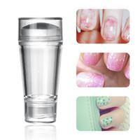 Silicone Nail Stamper Trasferimento di colore solido Cancella Nail Art Template Donne Finger Art Nail Polish Unghia a colori Stampa Fai da te Manicure Tools