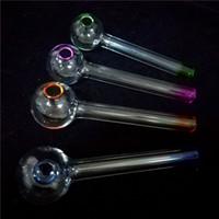 Il la cosa migliore Artigianato Pyrex Glass Oil Burner Pipa Mini Tubi per fumatori Fumo Tubo di vetro spesso Olio Tubo colorato per dab oil rig glass bong