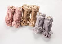 2018 winter New Baby Indoor Jackboots Cute Plush Animal stoc...