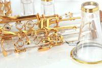 Musikinstrument Guldpläterad Key BB Acrylic Transparent Body Clarinet