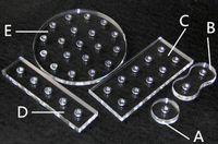 cartuccia universale dell'atomizzatore 510 supporto del supporto dello schermo acrilico con 510 accessori per sigarette elektronische di alta qualità calda USA