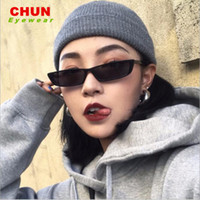 CHUN Kendall Jenner Vintage Cat Eye Солнцезащитные очки Женщины Суперзвезда моды Марка Малый Cateye ВС очки Женский K5