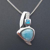 2021 Dominicano Natural Larimar Pendente Medaglione Solido 925 sterling argento gioielli pietre preziose pendenti fascino moda moda bella regalo per lei