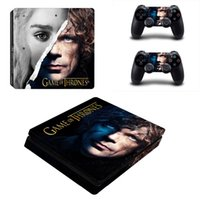 Gioco Thrones style Pelle Per Playstation 4 Slim PS4 Autoade...