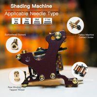 Tattoo Maschine Shader Gun 10 Wraps Coils Legierung Rahmen 110Hz Tätowierungspistole für Schattierfärbungen WQ4149
