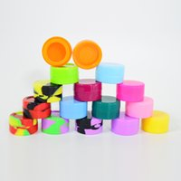 Silicone Oil Container 5ml Silicone Wax Box Multi Color Silicone Case 32mm*18mm Reusable Container for Wax or DAB tools