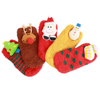 Winter Baby Coral Velvet Socks Baby Girls Cartoon Christmas ...