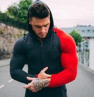 Vêtements de course à capuche pour hommes Sweats à capuche pour hommes Sport Hoodies Bodybuilding Fitness Exercise Veste d'entraînement Gym Vêtements