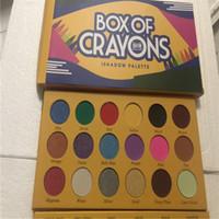 CRAYONS Kozmetik OF Yeni makyaj Palet! BOX Göz Farı Paleti 18 Renkler iShadow için çalışan Palet Işıltılı Mat GÖZ güzellik DHL kargo
