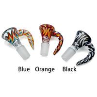 Yeni Stil 14mm 18mm Erkek Eklemler 3 Renk Kolu Vardır peruk Wag Cam Kaseler Cam Sigara Aksesuarları Cam Su Borular Için Takım Elbise Kul ...