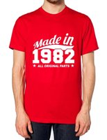 MADE IN 1982 ALL ORIGINAL PARTS T SHIRT BORN IN THE 80S FUNN...