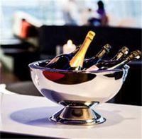 Edelstahl Schüssel Multi Funktion Rotwein Eiskübel Champagner Verdickung Party Essen Salat Runde Kreative Schalen 55dx jj