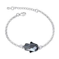 Fashion Fatima Hand Brand Jewellery con veri Swarovski Elements Crystal Bracciali Bangles per le donne Gioielli da sposa regalo
