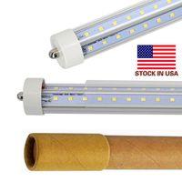 4FT 5FT 6FT 8FT FA8 FA8 SINGOLA PIN T8 LED Tubi a forma di V Luci a LED Tubo Doppio lati Alti Lumens AC 85-265V