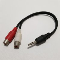 RCA 3.5 ملم مكبر صوت / تلفزيون / كمبيوتر شخصي Connecsion Data Cable 1 to 2 Splitter Cable Male to Female 28cm