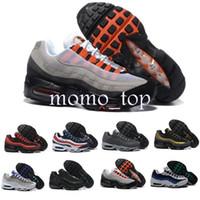 new product 80f59 9b97d Moda 2018 Zapatos AIR Cushion 95 Correr Zapatos Hombres Mujeres Deportes  Negro Blanco Mujeres Zapatillas Sneakers